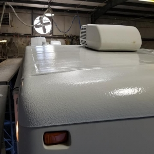 FlexArmor spray on RV Roof